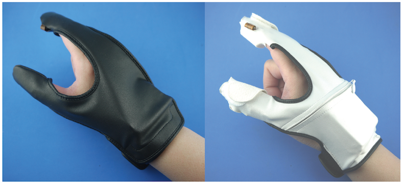 tri-haptic sensing/display gloves